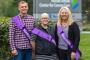 2019 Walk for Hope marshals Joel Blackwell, Jennifer Morrow and Heidi Sherburne