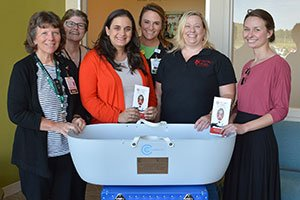MaineGeneral's Alfond Center for Health receives a Cuddle Cot bassinet to support grieving families