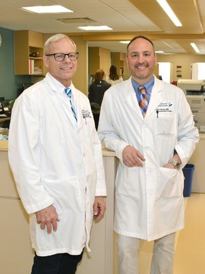 MaineGeneral vascular surgeons Mark Bolduc, MD, left, and John Carson, MD